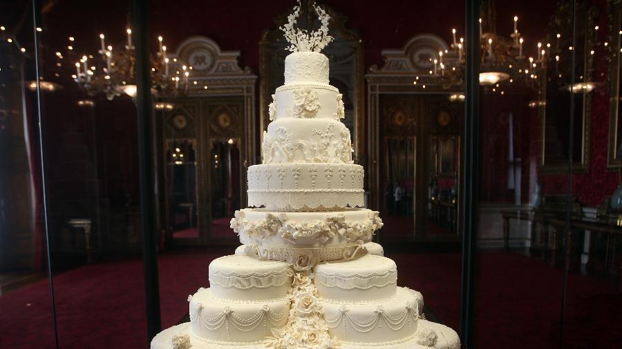 O bolo do casamento do príncipe William com Kate Middleton - Getty Images