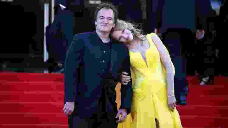 Quentin Tarantino e Uma Thurman posam para fotos no Festival de Cinema de Cannes em 2014 - REUTERS/Eric Gaillard - REUTERS/Eric Gaillard