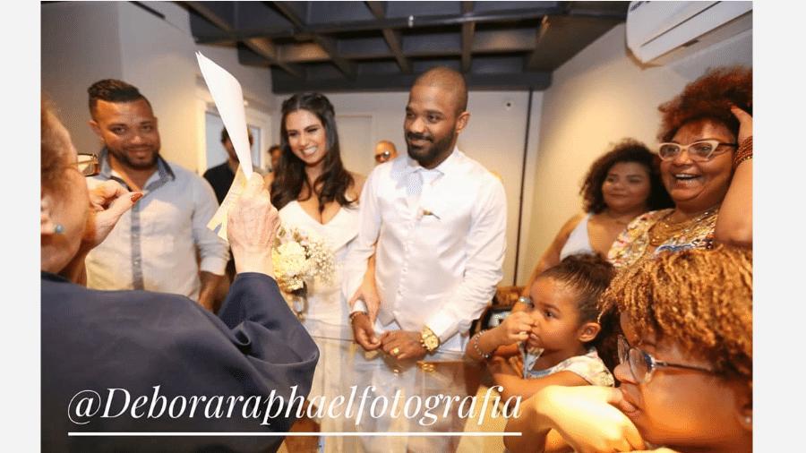Casamento de Arlindinho Cruz e Ayeska Massaia - Reprodução/Instagram/@deboraraphaelfotografia