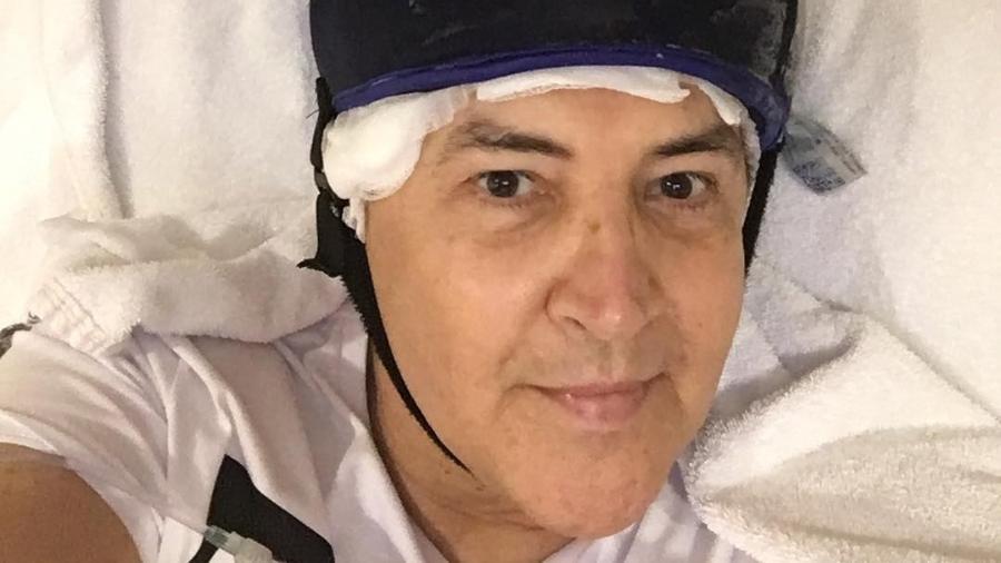 Beto Barbosa em sessão de quimioterapia contra o câncer - Reprodução/Instagram