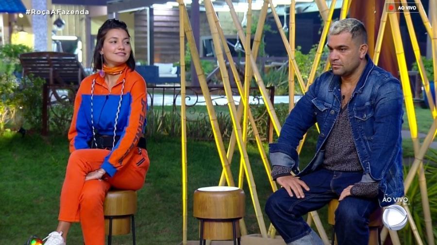"""Gabi Prado e Evandro Santo estão na sexta formação de roça de """"A Fazenda 10"""" - Reprodução/RecordTV"""