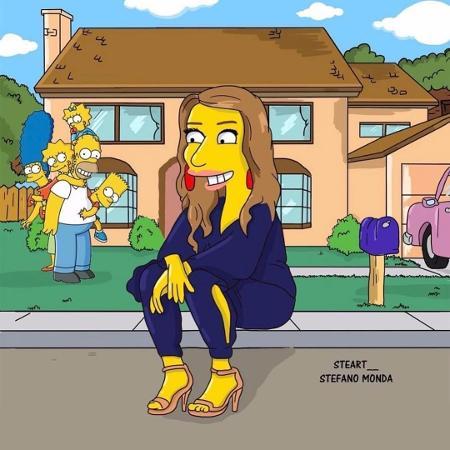 """Rebeca Abravanel publica primeira imagem no Instagram, inspirada em """"Os Simpsons"""" - Reprodução/Instagram/rebecaabravanel"""