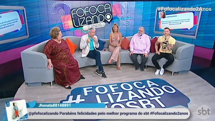 """Equipe do """"Fofocalizando"""" comemora dois anos - Reprodução/SBT"""