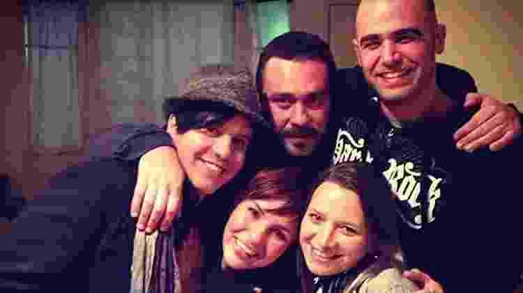 Rubinho Cabrera (careca) em encontro dos ex-integrantes do Trem da Alegria - Reprodução/Instagram - Reprodução/Instagram