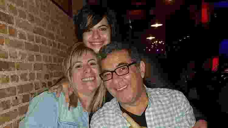 Meus pais e eu no dia do show - Arquivo Pessoal