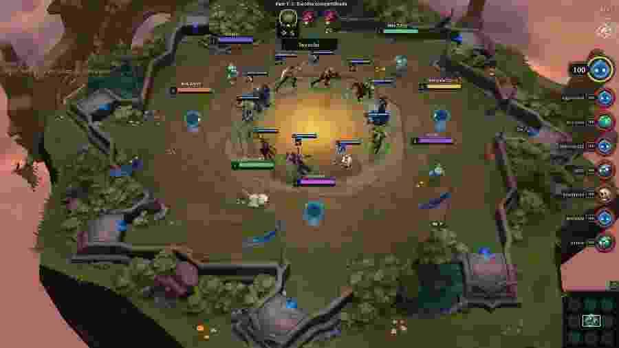 """Teamfight Tactics é um """"autobattler"""": o jogador escolhe suas peças e depois assiste às batalhas no tabuleiro - Reprodução"""