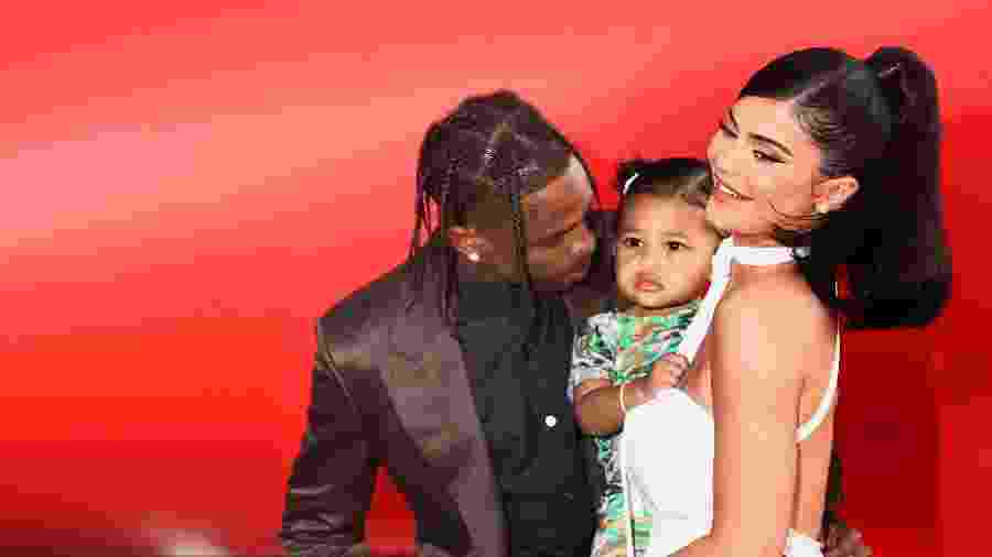 Kylie Jenner, Stormi e Travis Scott vão a evento na Califórnia - Tommaso Boddi/Getty Images
