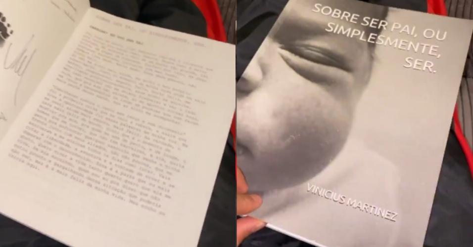 Neymar mostra o livro