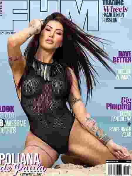 Poliana Paula posa para a revista FHM - divulgação