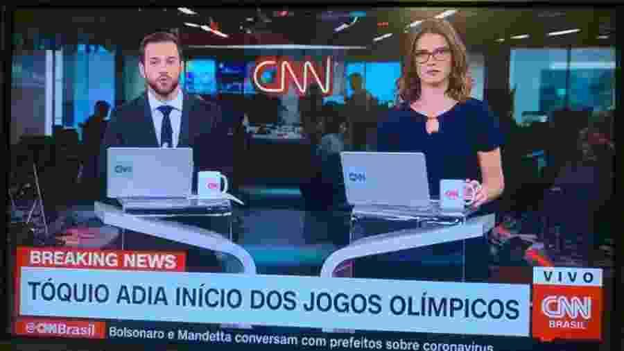 CNN Brasil informa, erradamente, que os Jogos Olímpicos de Tóquio teriam sido adiados - Reprodução