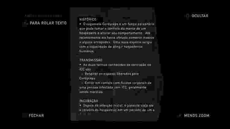 The Last of Us panfleto doença - Reprodução - Reprodução