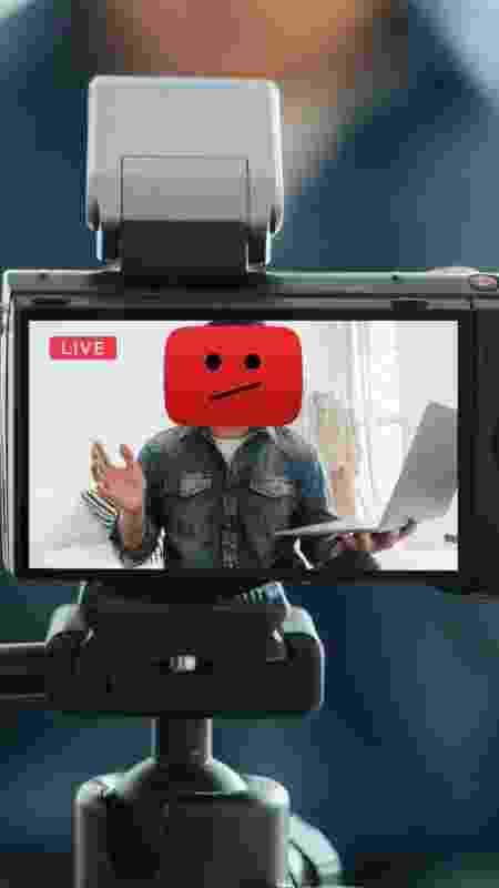 montagem youtuber - montagem com foto de Oscar Wong e ícone do YouTube - montagem com foto de Oscar Wong e ícone do YouTube
