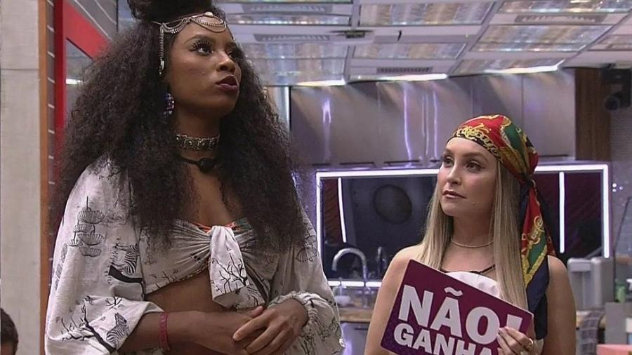 Lumena Aleluia e Carla Diaz tornaram-se rivais dentro do Big Brother Brasil 21 - TV Globo
