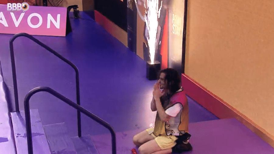 BBB 21: Fiuk chora ao vencer a última prova do reality - Reprodução/Globoplay