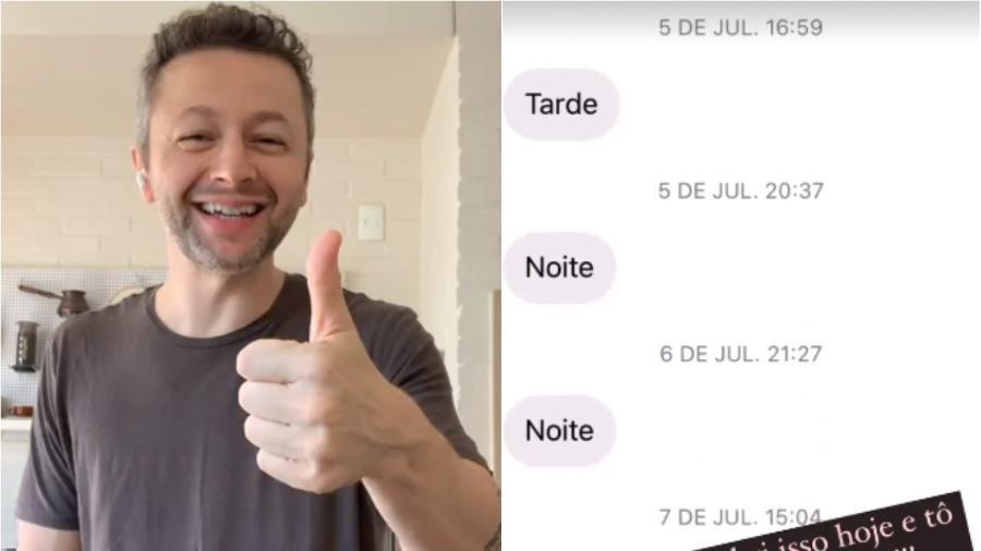 Lucas Lima mostra mensagens que recebeu todos os dias desde julho do ano passado - Reprodução/Instagram