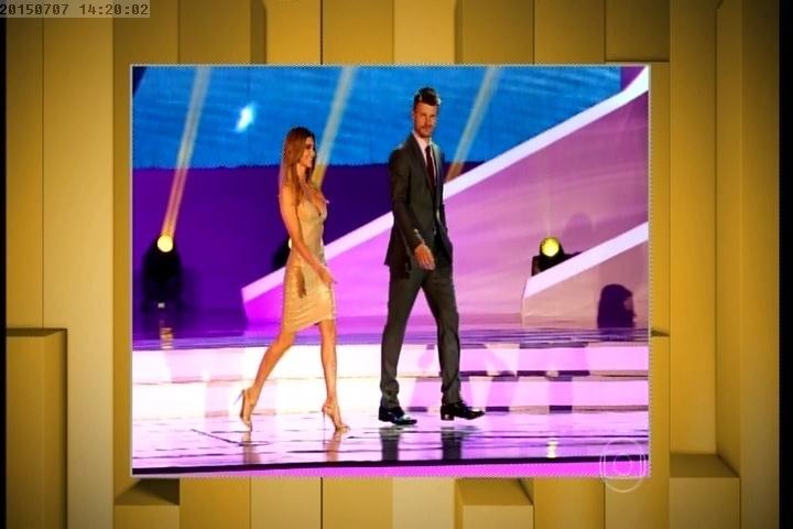 Fernanda Lima e Rodrigo Hilbert no sorteio dos grupos da Copa de 2014