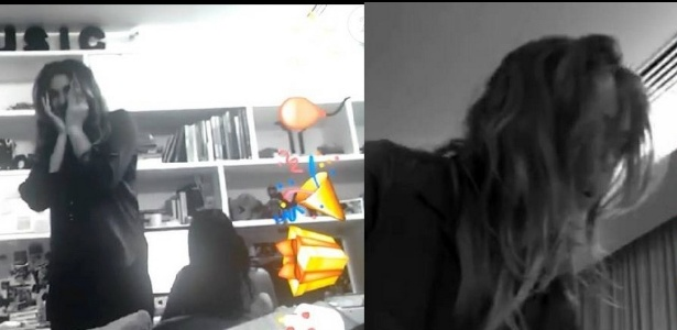 Bruna Marquezine assusta Sasha no dia do seu aniversário e mostra para internautas no Snapchat