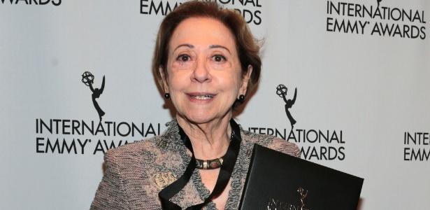 21.nov.2015 - Fernanda Montenegro na cerimônia de premiação do Emmy Internacional - Globo/ Luiz C. Ribeiro