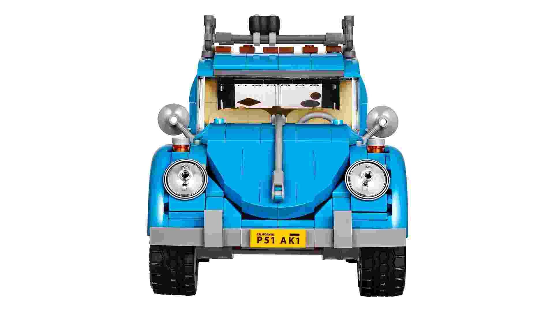 Réplica do Volkswagen Fusca feita com Lego - Divulgação