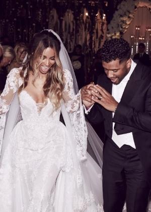 6.jul.2016 - Ciara compartilhou uma foto do casamento em seu perfil no Instagram - Reprodução /Instagram /ciara