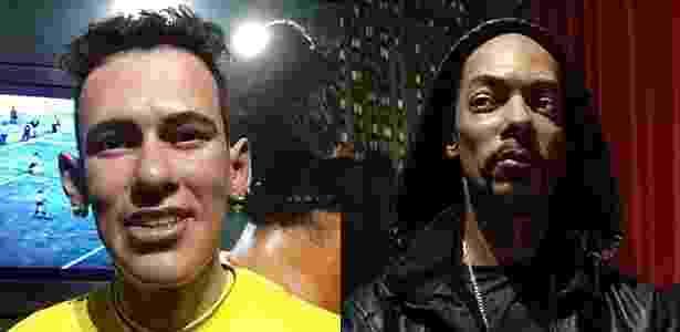 Estátuas de cera do jogador de futebol Neymar e do rapper Snoop Dogg no Dreamland, em Gramado - Luna D'Alama/UOL - Luna D'Alama/UOL