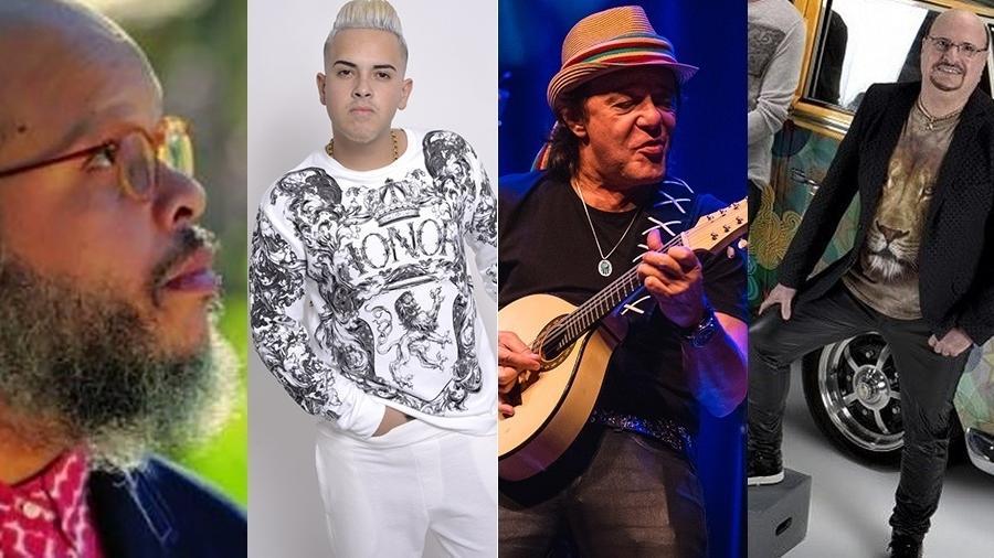 Ed Motta, G15, A Cor do Som e Roupa Nova fazem show no fim de semana - Montagem/UOL