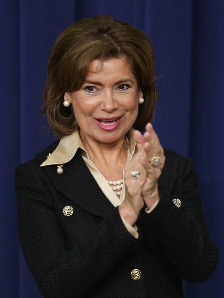 A banqueira Maria Contreras-Sweet na época em que trabalhou na administração do presidente Barack Obama - Alex Wong/Getty Images