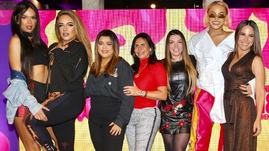 O time nacional do Milkshake: Lia Clark, Gloria Groove, Preta Gil, Gretchen, Simony, Pabllo Vittar e Wanessa Camargo - Manuela Scarpa/Brazil News