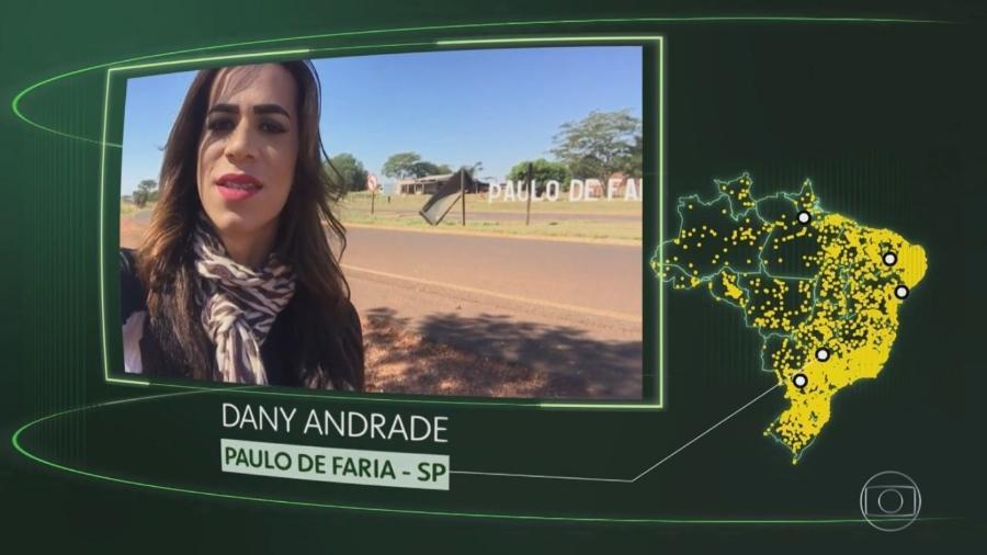 """Dany Andrade, transexual que apareceu no quadro """"O Brasil Que Eu Quero"""" no """"Jornal Nacional"""" - Reprodução/TV Globo"""