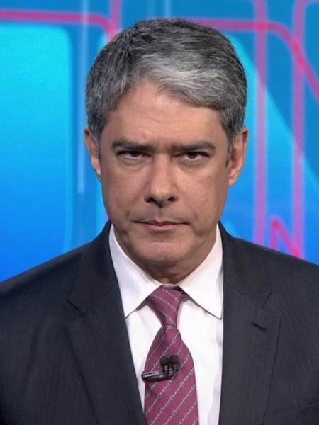 """William Bonner no """"Jornal Nacional"""" - Reprodução/TV Globo"""