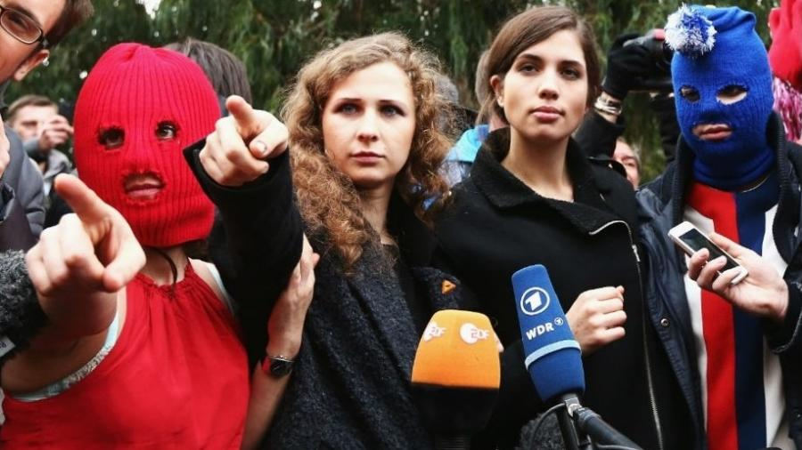 O grupo feminista Pussy Riot - Getty Images