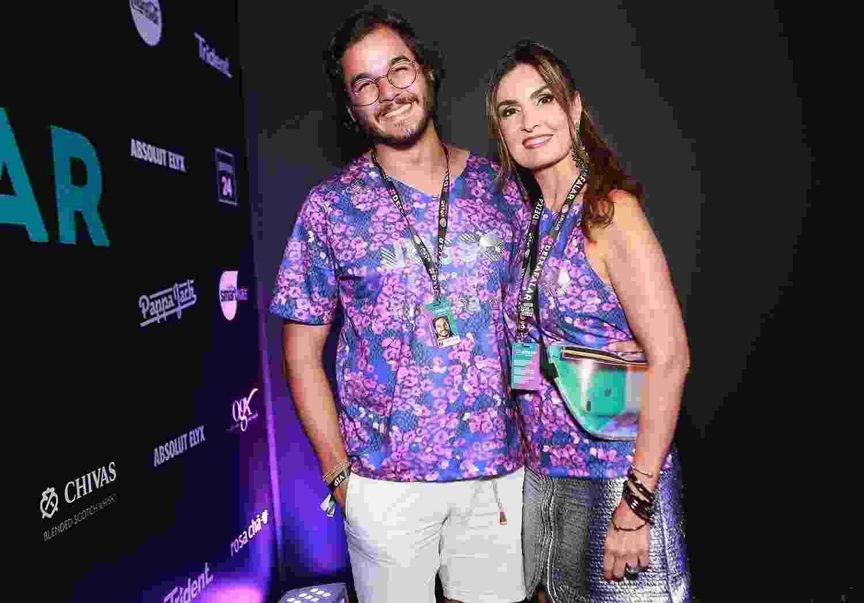 O deputado Túlio Gadêlha e a apresentadora Fátima Bernardes - Iwi Onodera/Brazil News
