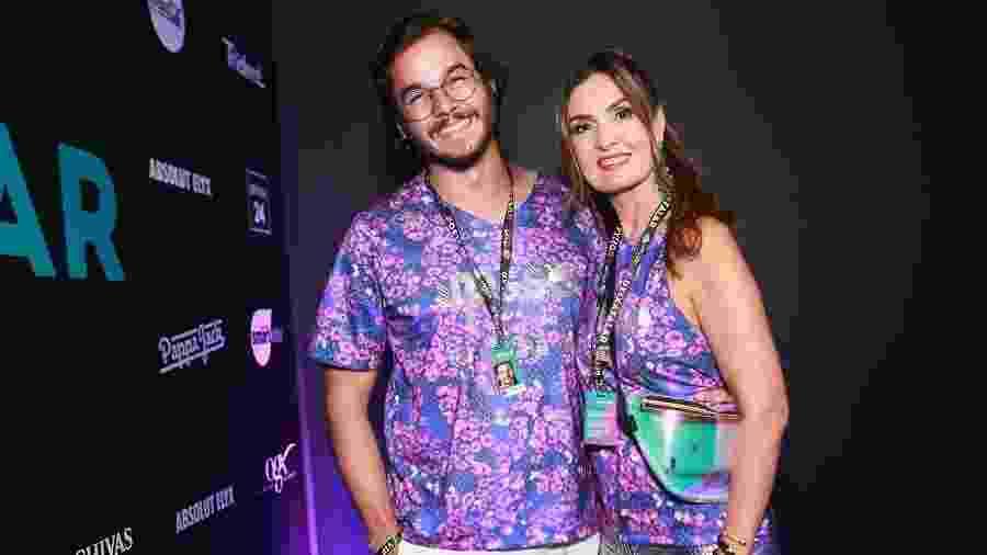 Fátima Bernardes e Túlio Gadêlha assistem juntos ao Desfile das Campeãs no Rio - Iwi Onodera/Brazil News