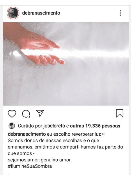 José Loreto curte post de Débora Nascimento - Reprodução/Instagram - Reprodução/Instagram