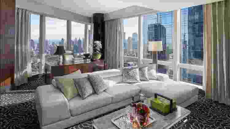 Suíte presidencial do hotel Mandarin Oriental em Nova York - Divulgação/Mandarin Oriental New York - Divulgação/Mandarin Oriental New York