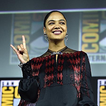 Thessa Thmpson no painel da Marvel da Comic-Con de San Diego - Alberto E. Rodriguez/Getty Images