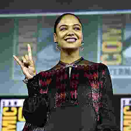 Thessa Thmpson no painel da Marvel da Comic-Con de San Diego - Alberto E. Rodriguez/Getty Images