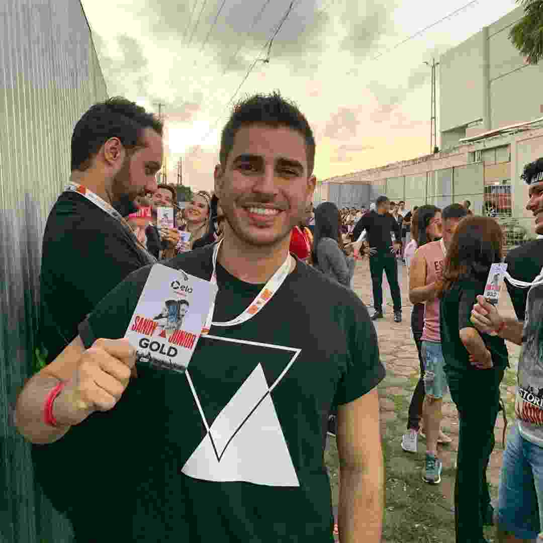 Ricardo Hengles no primeiro show da turnê Nossa História, de Sandy e Junior, no Recife - Reprodução/Instagram
