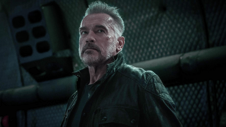 Arnold Schwarzenegger em cena de O Exterminador do Futuro: Destino Sombrio - Reprodução