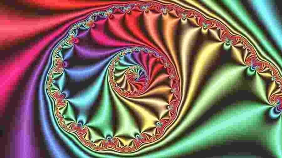 Computação gráfica mostra imagem fractal tridimensional derivada do conjunto de Julia, estudado durante a Primeira Guerra  - Science Photo Library/BBC