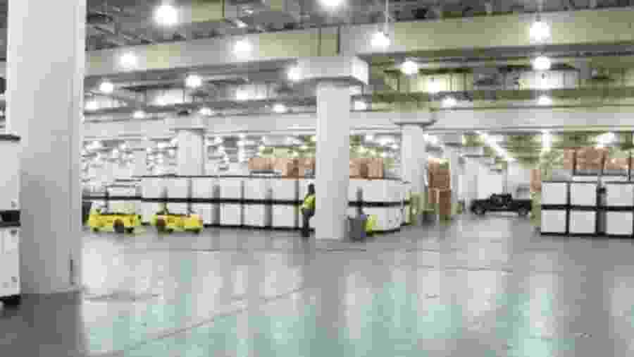 Local do Salão do Automóvel de Nova York vira hospital contra COVID-19 - Reprodução