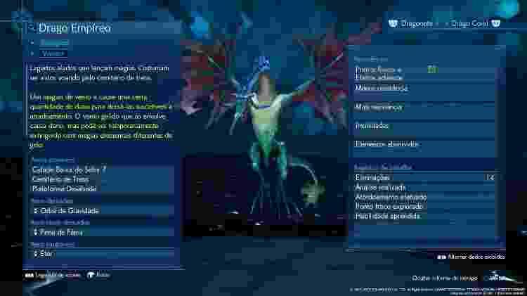 FFVII Dragão - Reprodução - Reprodução