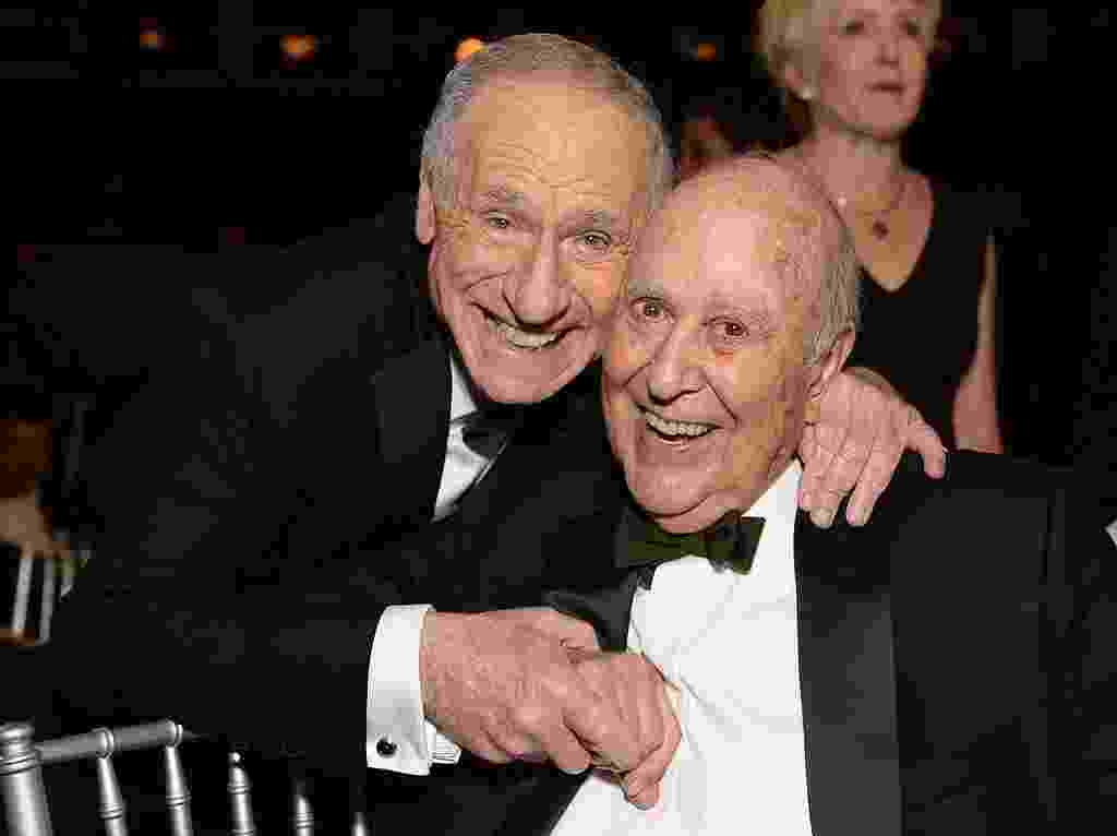 Mel Brooks e Carl Reiner - Getty Images/2013 Michael Kovac