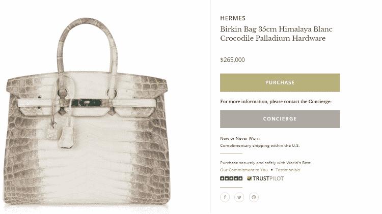 Bolsa da grife Hermès usada por Kylie Jenner é vendida por US$ 265 mil - Reprodução - Reprodução