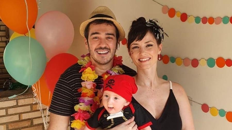 Marcos Veras, Davi e Rosanne Mulholland - Reprodução/Instagram @omarcosveras