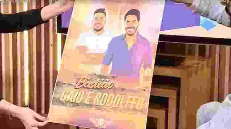 BBB 21: Rodolffo ganha cartaz com foto dele e de Caio - Reprodução/ Globoplay - Reprodução/ Globoplay