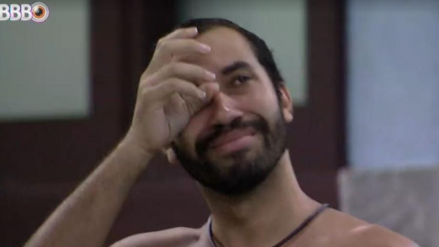 BBB 21: Gilberto chora ao som de beyoncé - Reprodução/ Globoplay