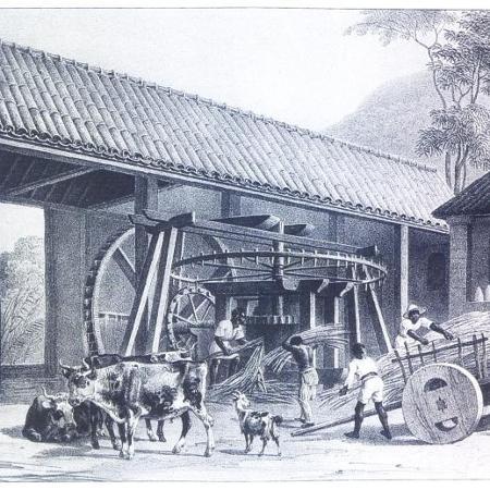 O engenho de açúcar fluminense do século XIX  - Moulin à sucre, par Rugendas, 1835 - Moulin à sucre, par Rugendas, 1835