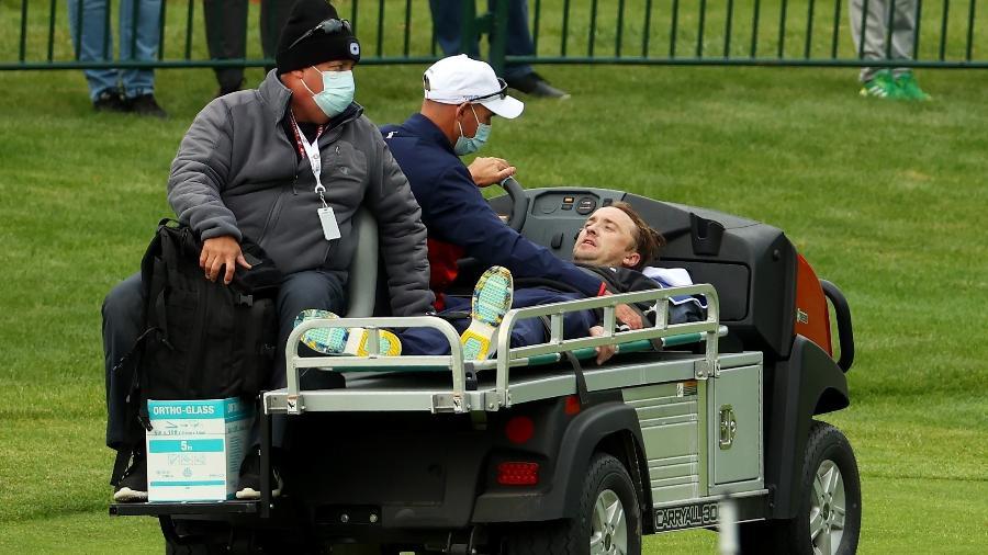 Tom Felton passa mal e recebe atendimento médico em jogo de golfe nos EUA  - Andrew Redington/Getty Images/AFP