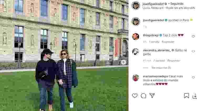 João Figueiredo e Sasha passeiam por Paris - Reprodução/Instagram - Reprodução/Instagram